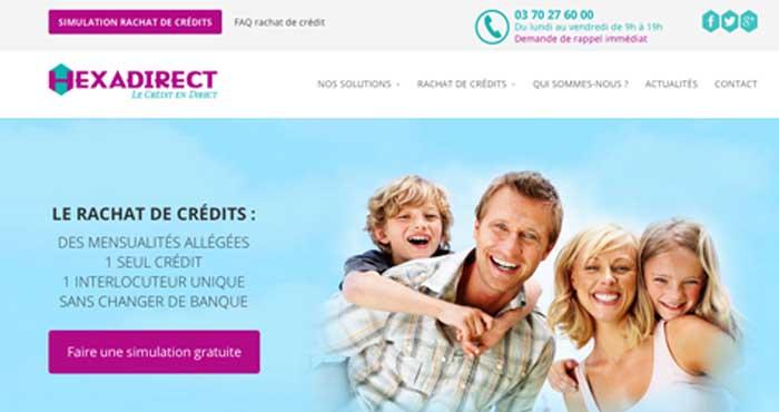 Rachat de crédits en France avec Hexadirect