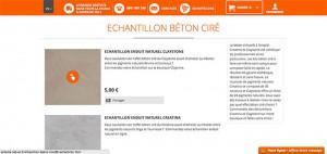echantillon beton cire